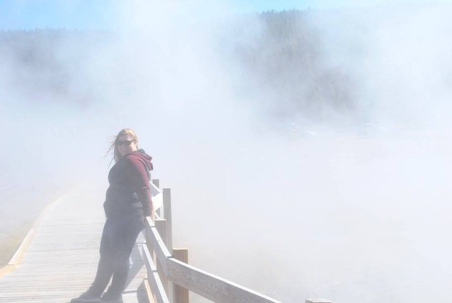 Steam coming from a river in Yellowstone National Park