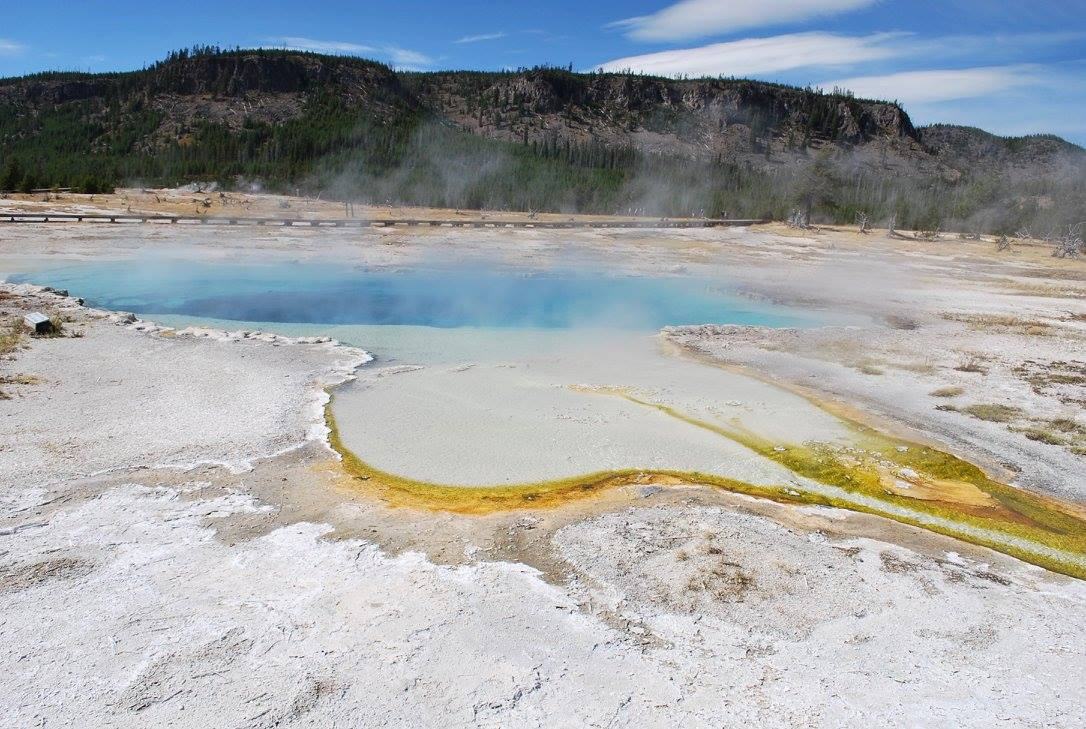 Blues and yellows in Yellowstone