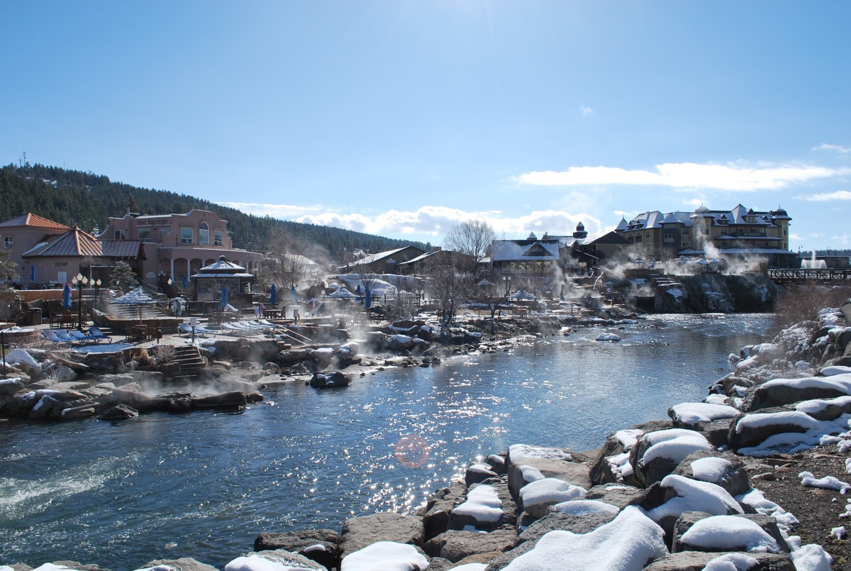 Hot springs on the river Pagosa