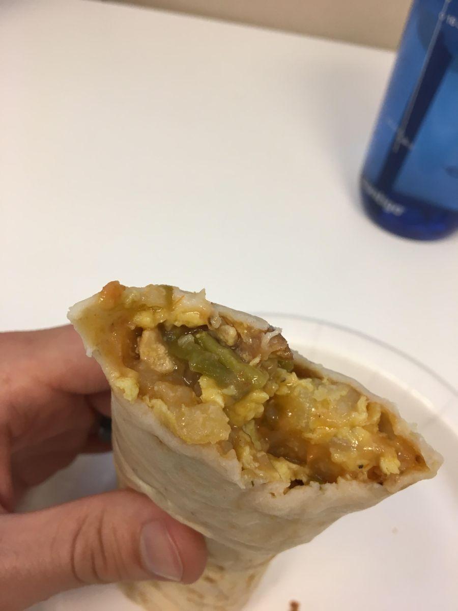 Santiagos breakfast burrito Denver