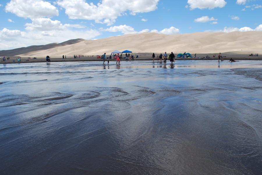Great Sand Dunes swimming