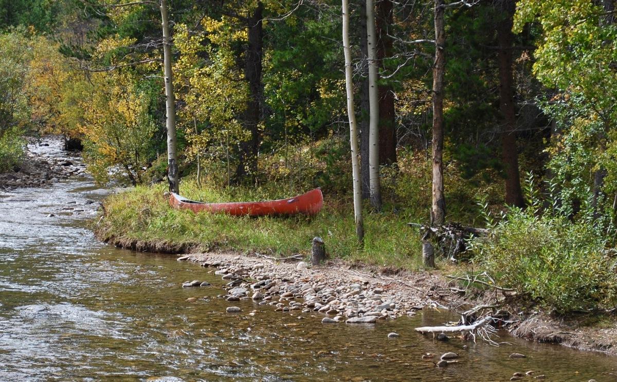 Colorado river in the fall