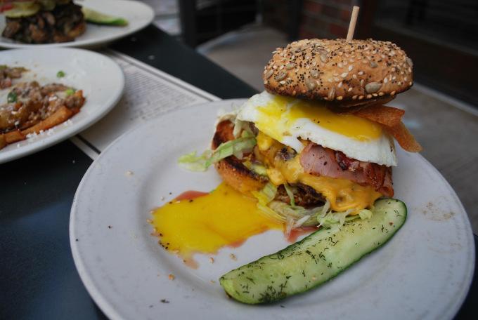 Burger with egg Denver Colorado