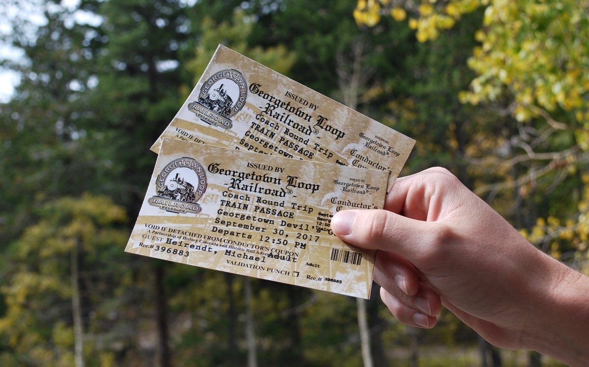 Georgetown Railroad tickets to buy