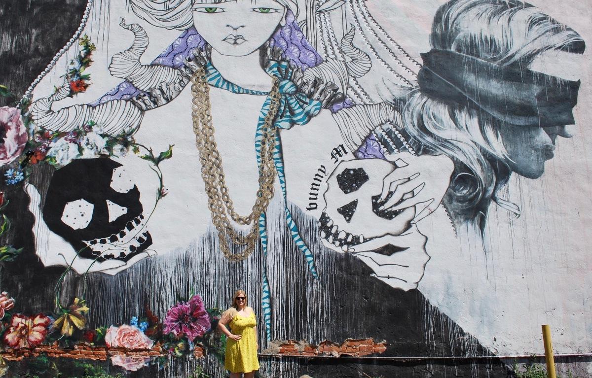 Bunny M mural Denver