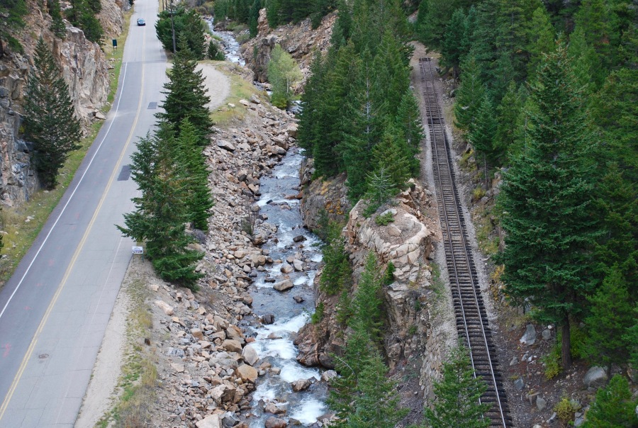 Railroad in Georgetown Colorado