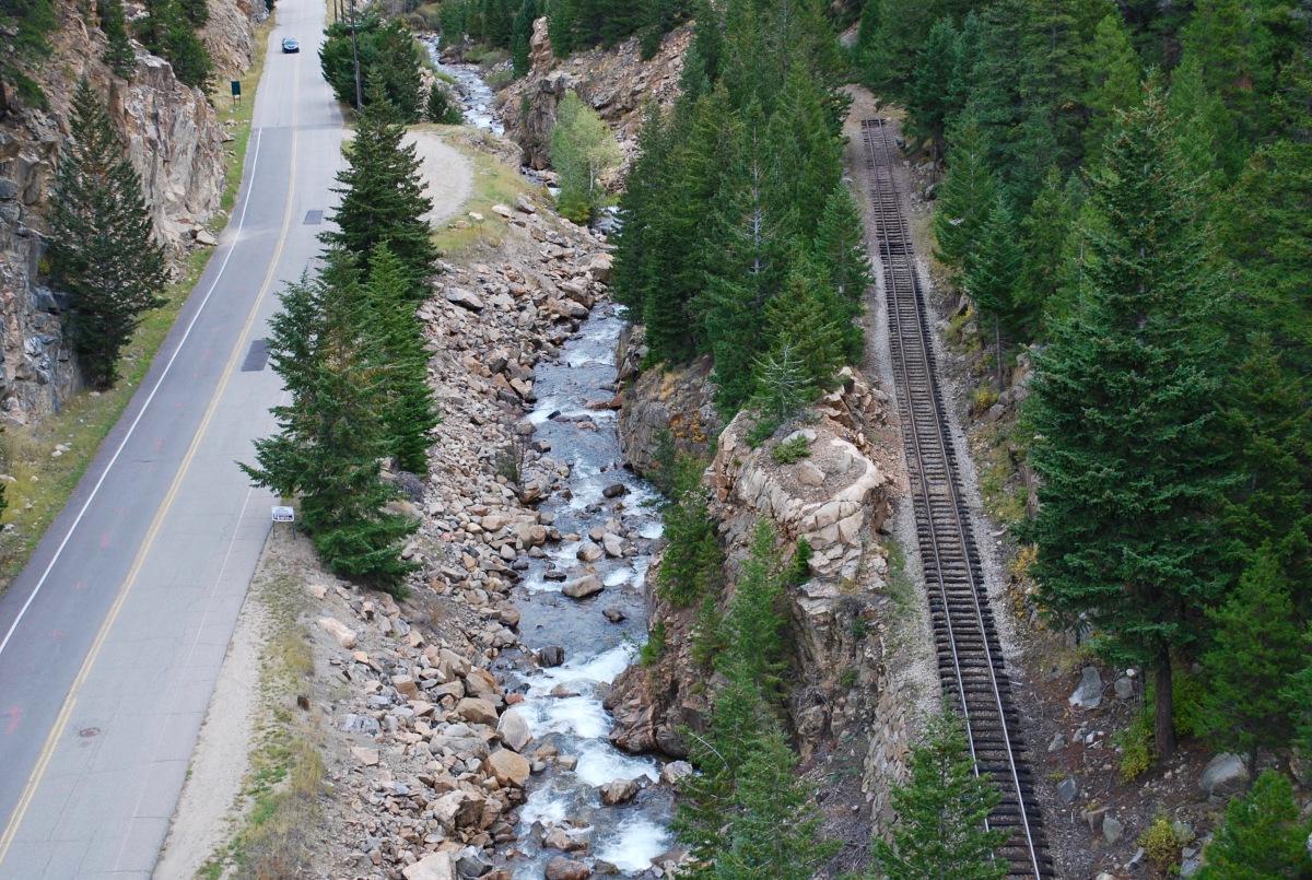 Railroad in Georgetown Colorado