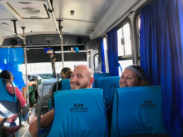 Taking the bus to Sayulita
