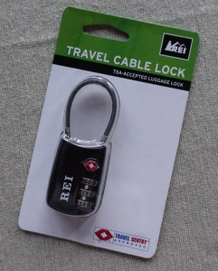 Travel cable lock for backpacking