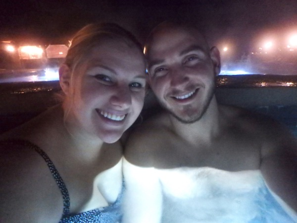 Iron Mountain Hot Springs Night