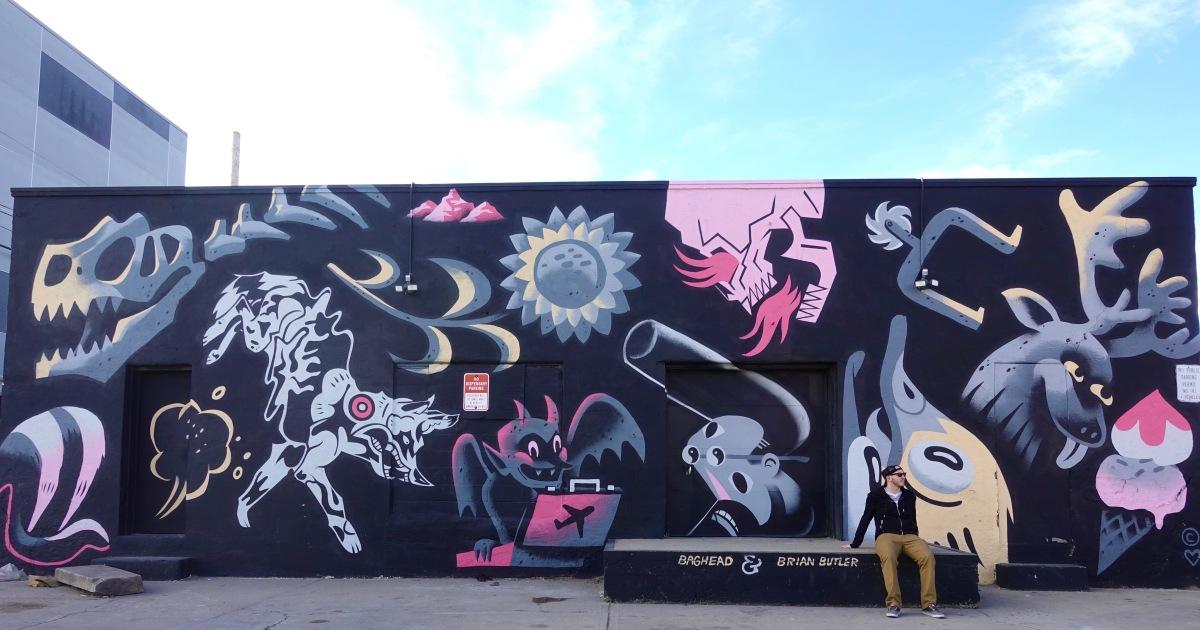 baghead and brian butler wall art Denver