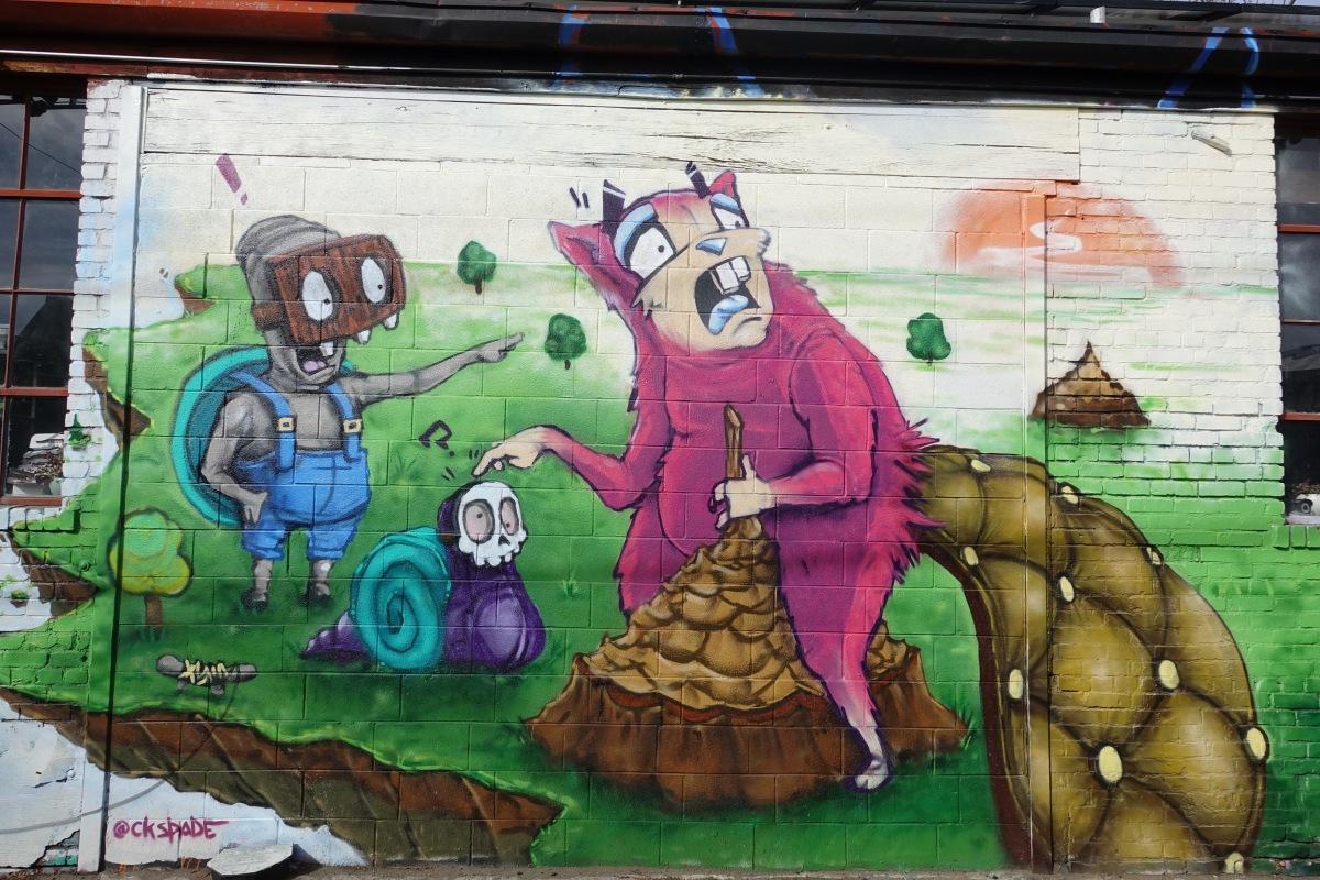 Chris Spade street art RiNo district