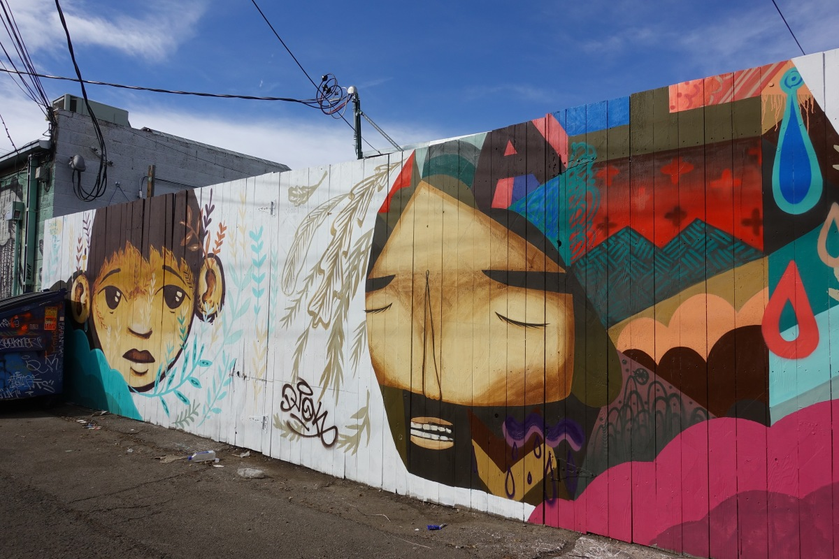 Alleyway between 27th and 28th, Larimer and Walnut streets, Artist Pedro Barrios
