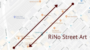 RiNo Street Art Murals Map